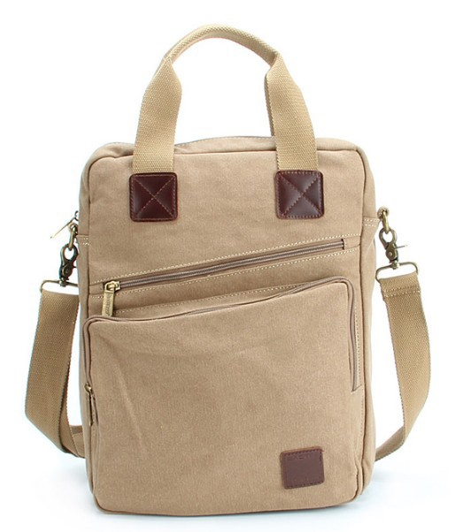 IPAD canvas shoulder bag for women, mens canvas satchel - BagsEarth