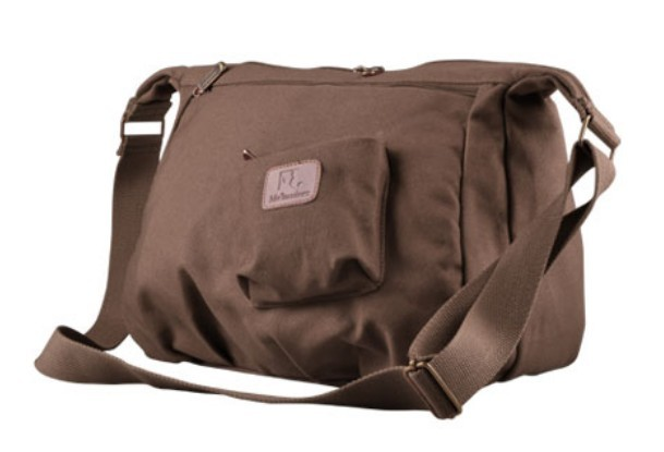 brown Cotton canvas satchel