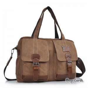 Large Canvas Ipad Tote Bag, 14 Inch Laptop Messenger Canvas Bag