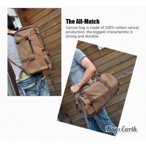 Vintage Men's Canvas Backpack