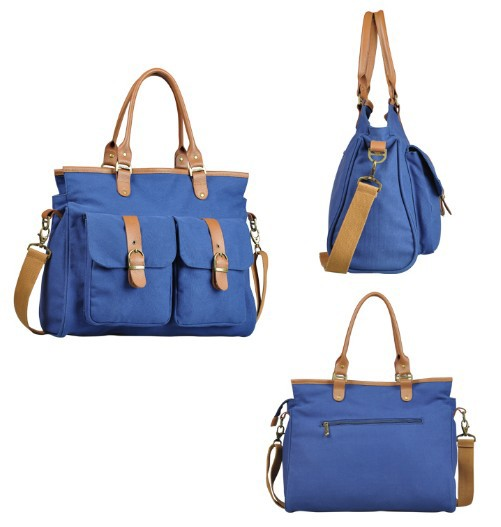 Canvas satchel bag, canvas shoulder bag women - BagsEarth