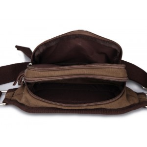 coffee canvas waist pack