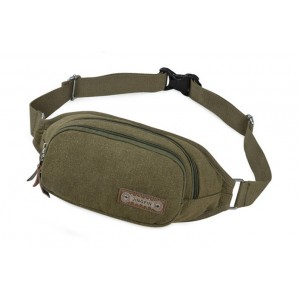 army green canvas waist pack