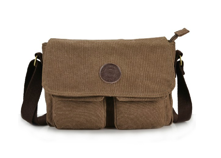Canvas messenger bag, men's canvas satchel bag - BagsEarth