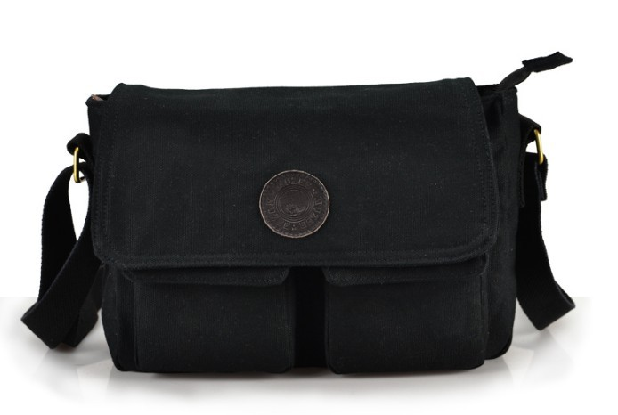 ... black Canvas messenger bag · black men s ... c5d4fa501560e