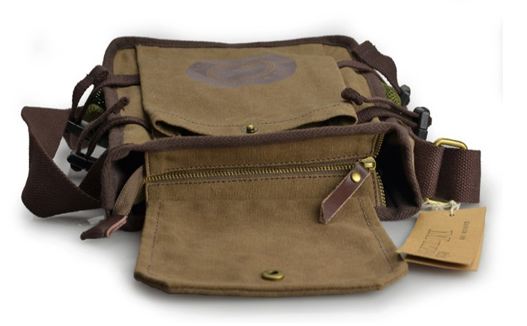 a8d0b5395b ... coffee Mens canvas and leather shoulder bag ...