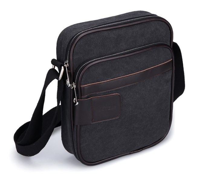 Mens canvas shoulder bag, men's weekday canvas messenger bag ...