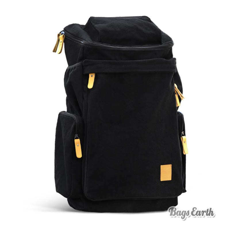 6bd0026c5b Canvas Backpacks For College, Backpack Computer Bags Black Khaki ...