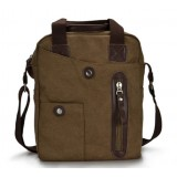 vintage canvas leather messenger bag
