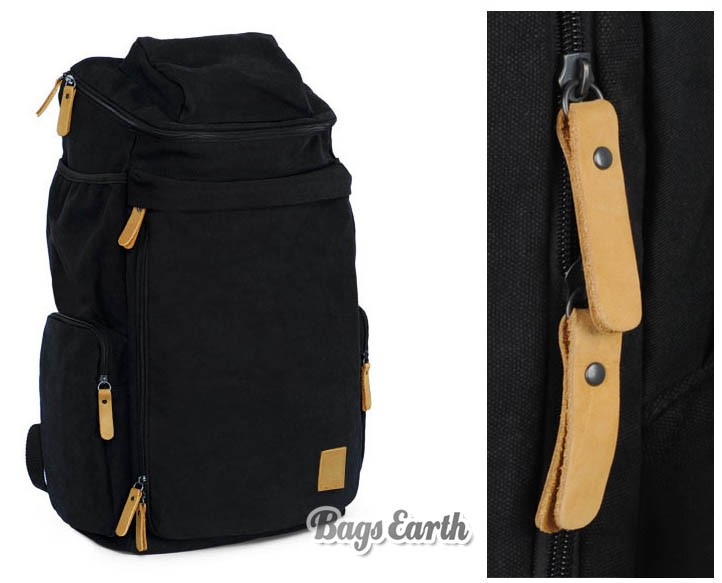 Canvas Backpacks For College, Backpack Computer Bags Black Khaki ...