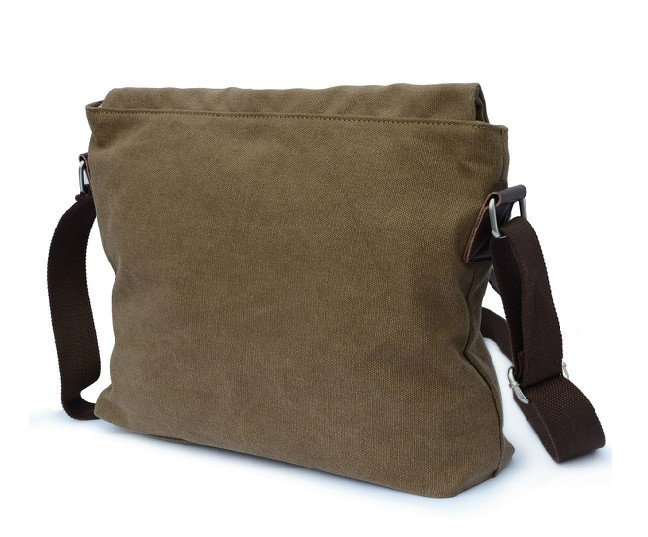 Canvas messenger bag black, canvas satchel bag for men - BagsEarth