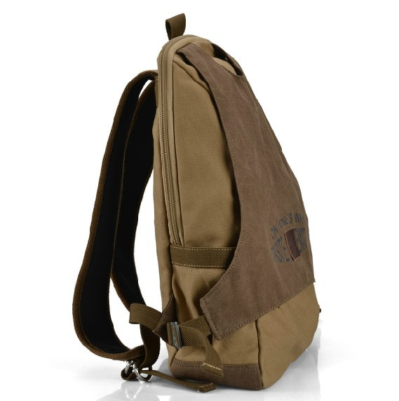 Vintage canvas backpack leather, canvas backpack for high school