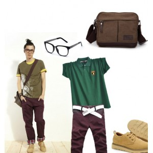 vintage canvas messenger bag men