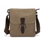 Mens canvas messenger bag, canvas leather messenger bag