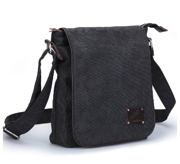 Canvas messenger bags for men, canvas messenger bag black - BagsEarth