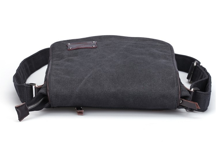Canvas messenger bags for men, canvas messenger bag black - BagsEarth