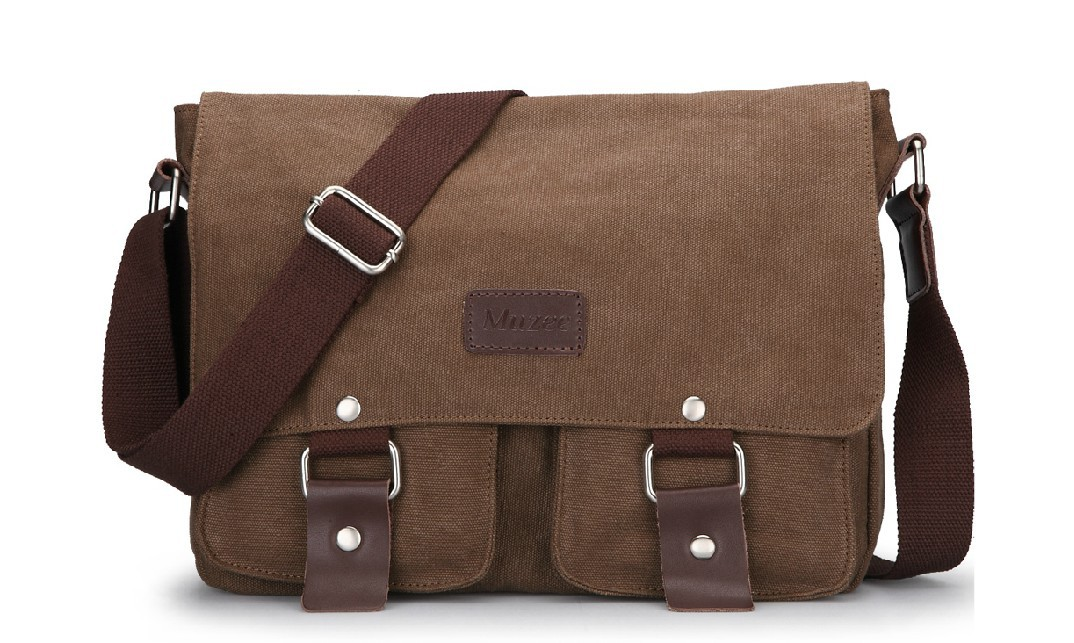 0641559751 Vintage messenger bag coffee
