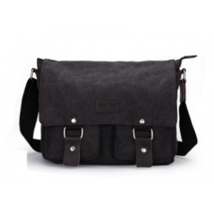 Vintage messenger bag black