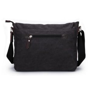 black unusual messenger bag for men
