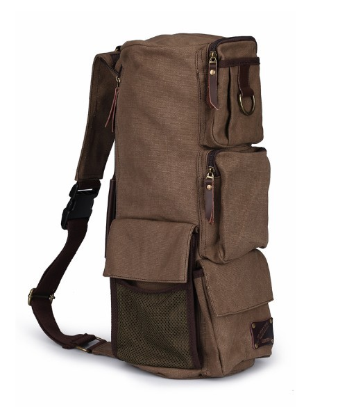 Canvas messenger bags backpack, single strap backpack - BagsEarth