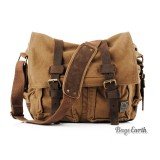 Vintage Canvas Messenger Bag, 13 Inch Laptop Bags Khaki Army Green
