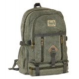 Canvas backpack for high school, laptop bag for men
