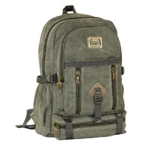 Canvas backpack for high school, laptop bag for men
