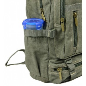 army green Canvas backpack for high school