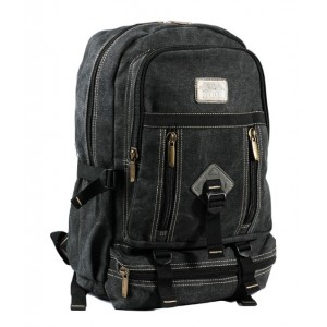 black Canvas backpack for high school