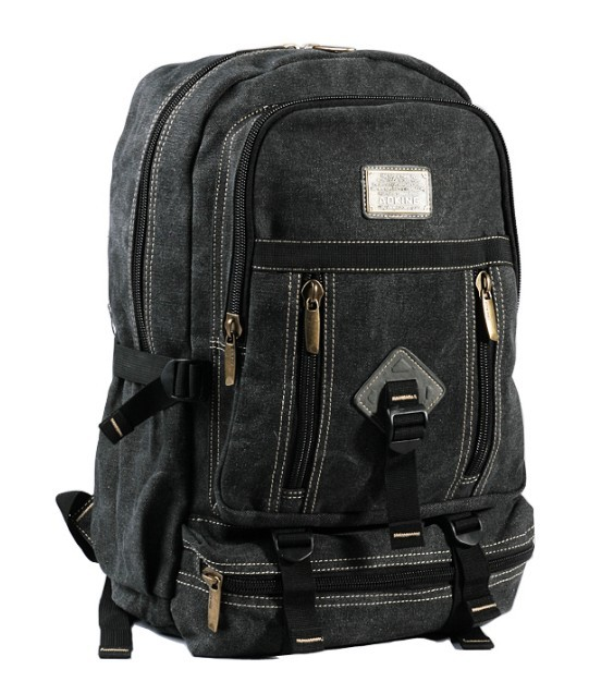 Canvas backpack for high school, laptop bag for men - BagsEarth