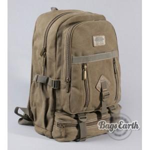 khaki Canvas backpack for high school