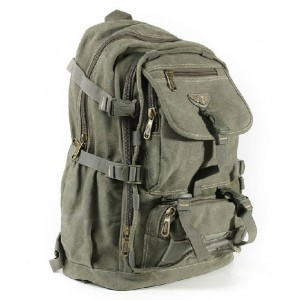 Military canvas backpack men