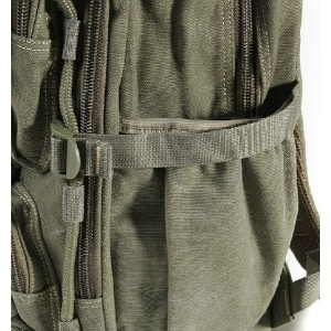 army green canvas backpack men