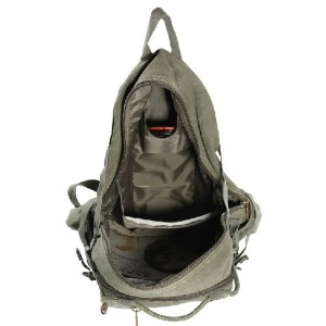 Military canvas backpack for men