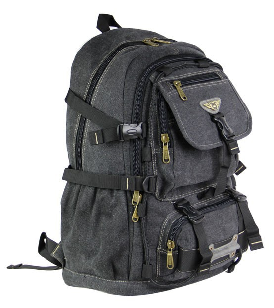 Military canvas backpack men, computer laptop bag - BagsEarth
