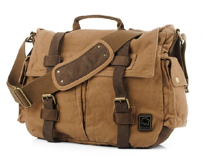 Best 14 inch laptop bag, canvas messenger laptop bag - BagsEarth