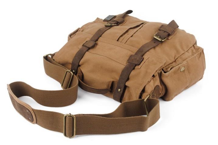 Best 14 inch laptop bag, canvas messenger laptop bag - BagsEarth