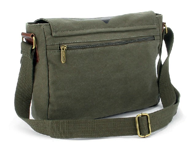 IPAD mens canvas messenger bag, canvas military messenger bag ...