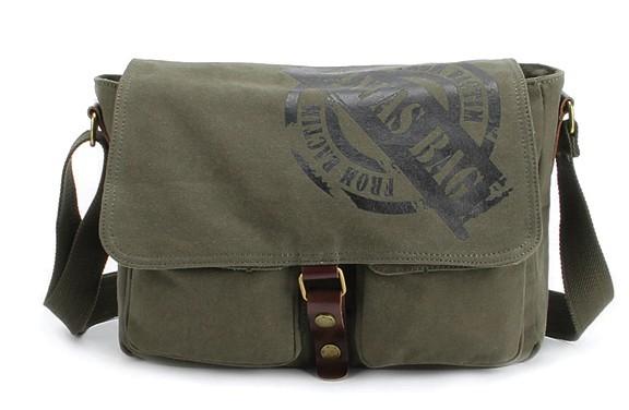 58e2bc2a444e ... army green mens canvas messenger bag ...