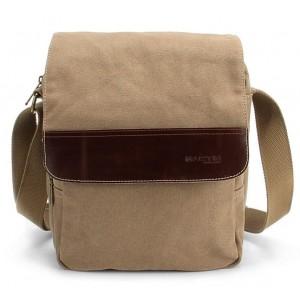 khaki IPAD across the shoulder bag