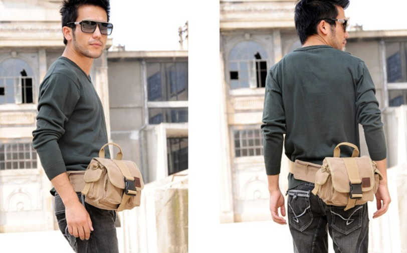 Canvas Messenger Bag Men Canvas Fanny Pack Bagsearth