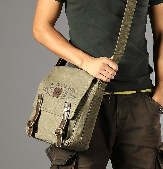 Cool messenger bags for men, cotton messenger bag - BagsEarth