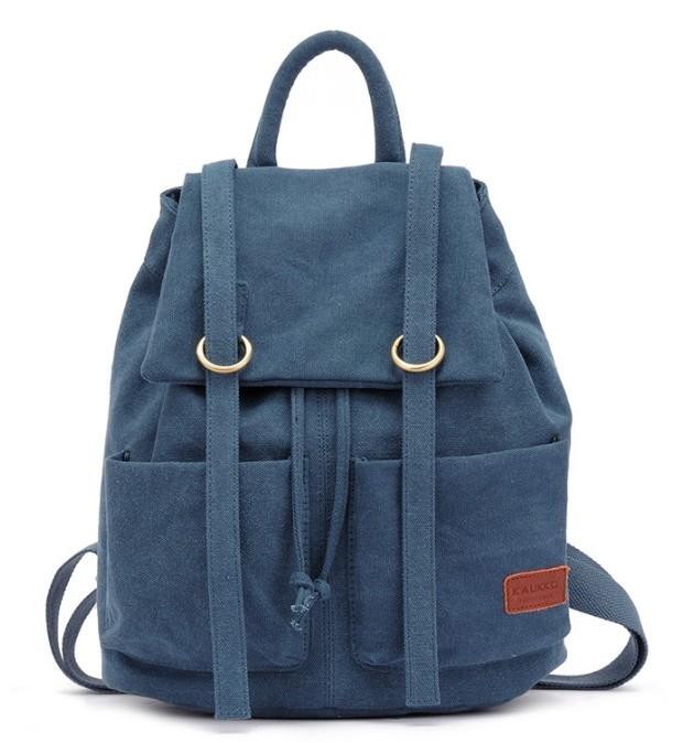43f1898571a Cute canvas backpack, canvas rucksack school backpack - BagsEarth