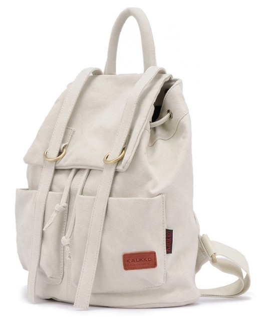 Cute canvas backpack, canvas rucksack school backpack