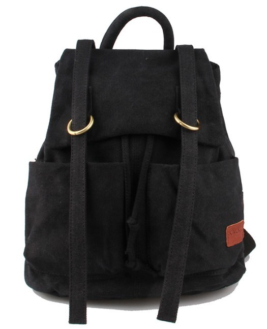 Cute canvas backpack, canvas rucksack school backpack - BagsEarth