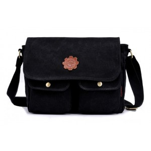 black Trendy messenger bag