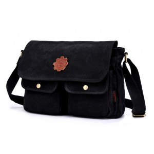 black travel shoulder bag