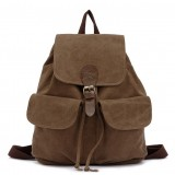 Canvas backpack for teenage girls