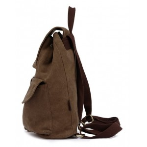 khaki Canvas backpack for teenage girls