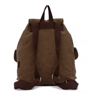 khaki girls canvas rucksack backpack